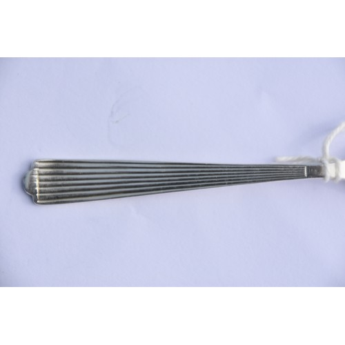 242 - A SILVER PASTRY FORK