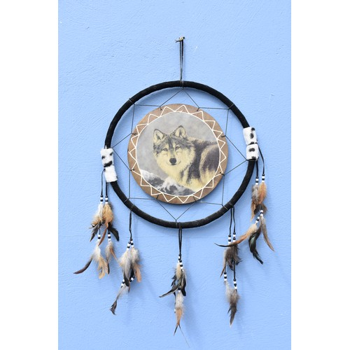 342 - WOLF DREAM CATCHER