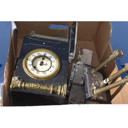 85 - A SLATE CLOCK FOR REPAIR