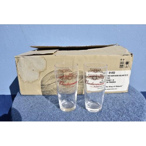 95 - BOX OF BUD PINT GLASSES