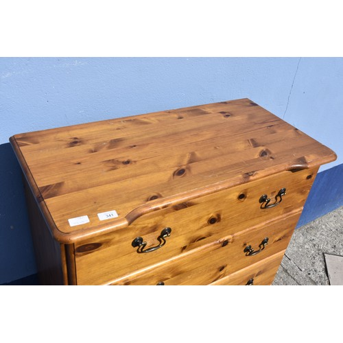 341 - A 5 DRAWER PINE CHEST