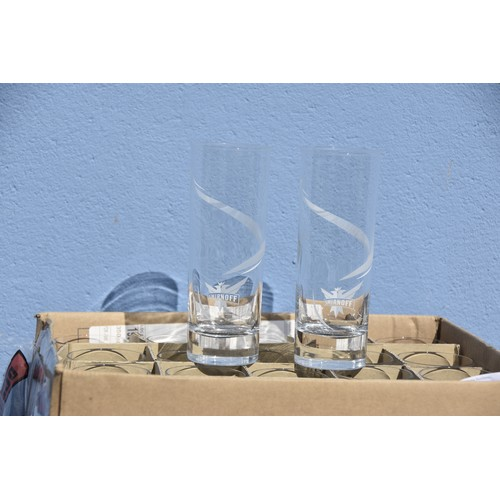 452 - 24 SMIRNOFF GLASSES