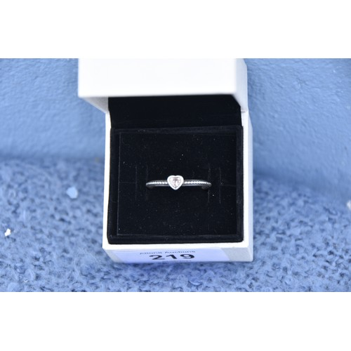 219 - BOXED PANDORA RING