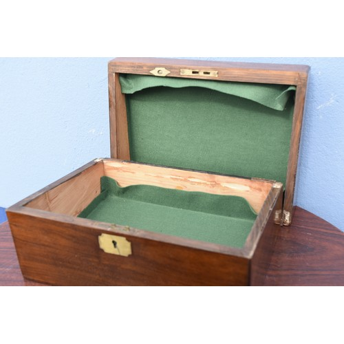 15 - MAH BRASS INLAID WRITING BOX