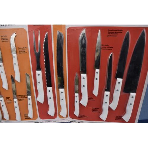 23 - A NEW RICHARDSON OF SHEFFIELD SUPER SHARP KNIFE SET