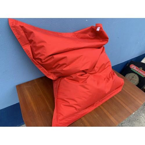 36 - A RED BEAN BAG