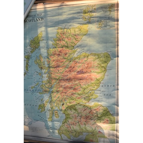 40a - A 1960s SCHOOL MAP OF SCOTLAND