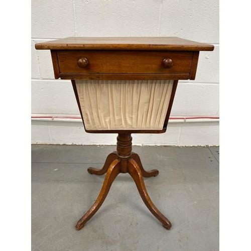 19th Century Antique Pedestal Ladies Work Box / Sewing  46cm x 72cm x 36cm