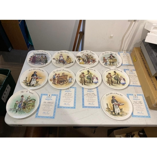 Collection of 10 Wedgwood Limited Edition plates by John Finnie with boxes & COA - A/F