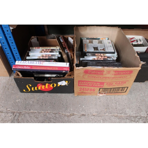 12 - CDS, BOOKS 2 BOXES...