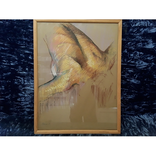 21 - Richard O'Connell framed pastel life drawing entitled
