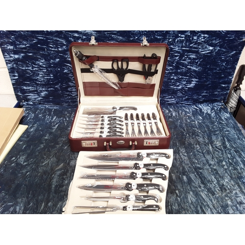 17 - Prima case of new knives and steak knifes...