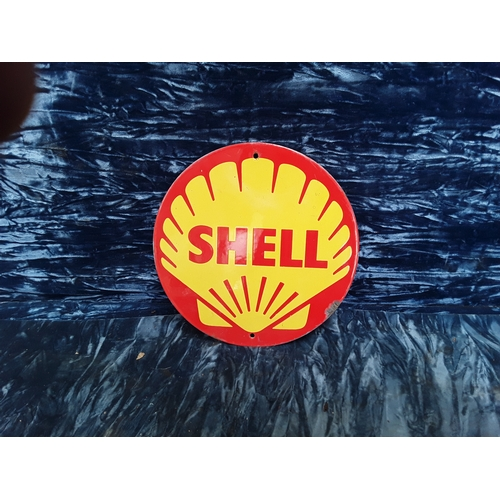 32 - Shell enamel advertising sign...