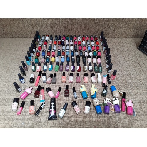 28 - Large quantity of retail packaged and opened nail varnish...