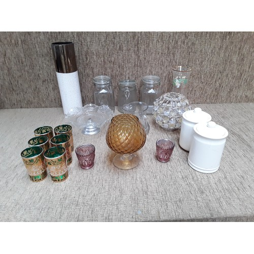 44 - Selection of of Home and kitchen jars and vases...