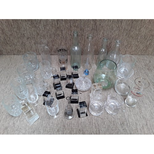 59 - Selection of glass items including Glass trophy's...