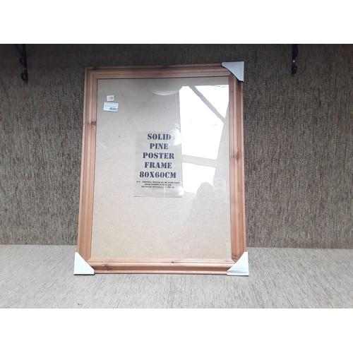 8 - Solid pine poster frame...