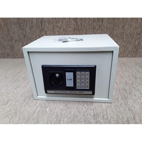 49 - Electronic digital safe with keys...