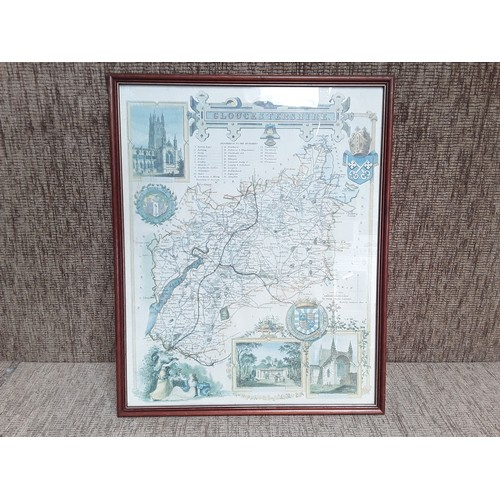 23 - antique map of Gloucestershire...