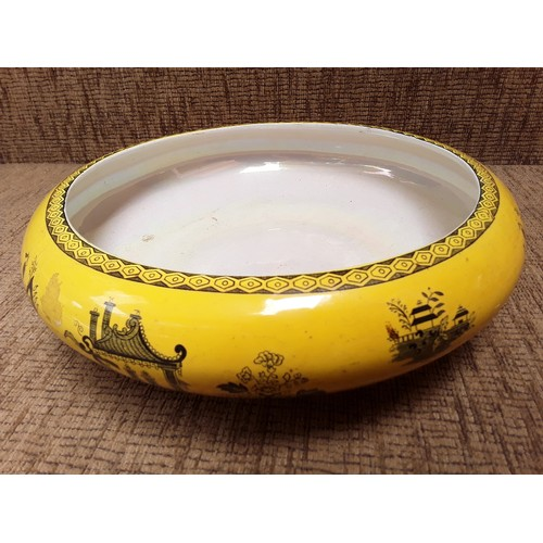 15 - Large Bristol Lustre ware Bowl with Chinese decoration...