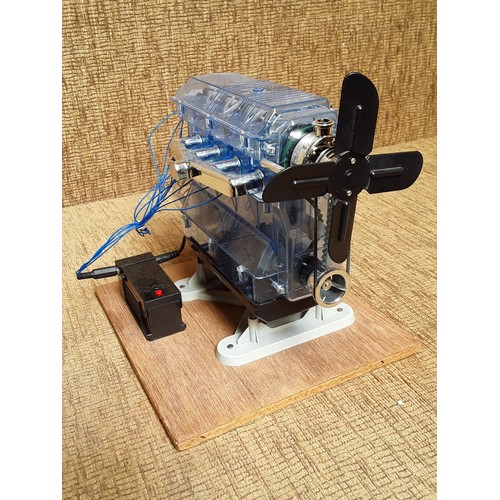 5 - Working model of a car engine...
