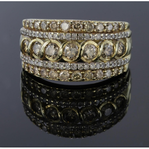 32 - 9ct Gold CZ set Ring size N weight 4.4g...
