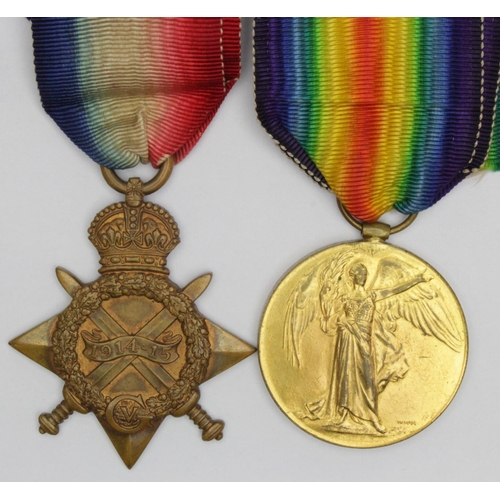 10 - 1915 Star and Victory Medal to 1936 Pte T Morgan Monmouth Regt. Entitled to the Silver War Badge for...
