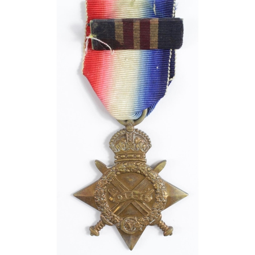 15 - 1915 Star to W-3327 Gnr E Brickell 'B' Btty, 119th Bde, RFA.  Awarded the Military Medal L/G 11.2.19...