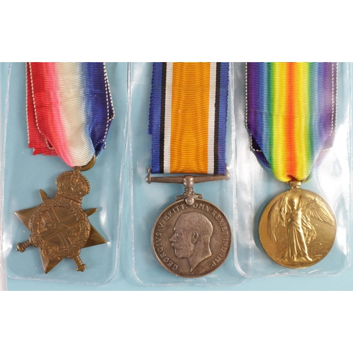 20 - 1915 Star Trio to 1439 Pte G E Vaines Essex Yeomanry. Also served Co.of London Yeo, and MGC. Born Wa...