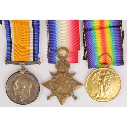 21 - 1915 Star Trio to 17680 L.Cpl J.Lowe Suffolk Regt.  (3)...