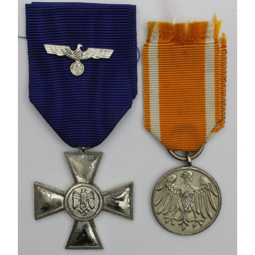 German Nazi Life Saving Medal with ribbon, plus Wehrmacht 18 Years