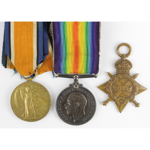19 - 1915 Star Trio to 13537 Gnr W Orders RFA.  (3)...