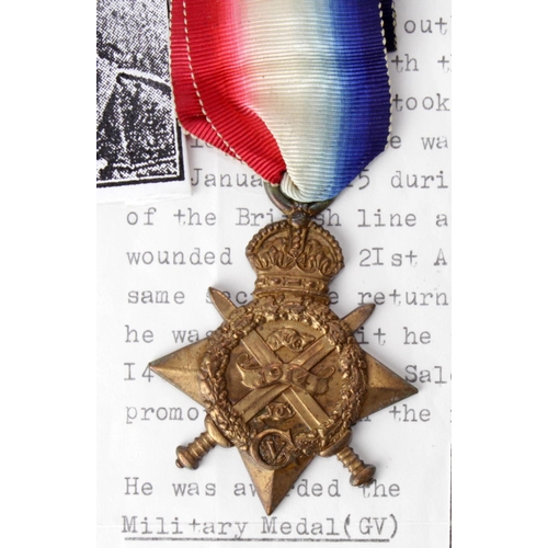 3 - 1914 Star named 10731 Pte J Bramwell 1/L'pool Regt. Awarded the Military Medal. To France 12.8.14. F...