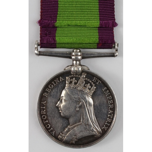 39 - Afghanistan medal 1881 no clasp to 1605 Cpl T H Honisett 4th bn Rifle Brigade comes with research....