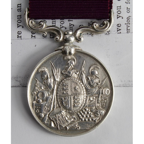 54 - Army LSGC Medal QV named to 9982 Sergt A R Seppings RE. With copy service papers, born Fakenham, Nor...