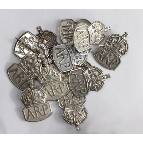 56 - ARP silver hallmarked badges  (x12) one a/f...