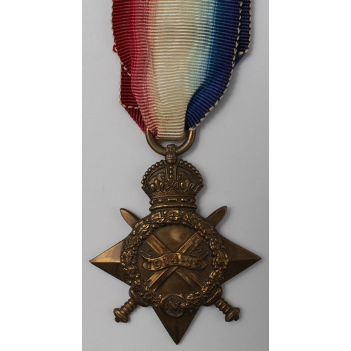8 - 1915 casualty Star to L/10186 Pte D S Perrins Buffs (East Kent Regt) K in A 28-9-1915, remembered Lo...