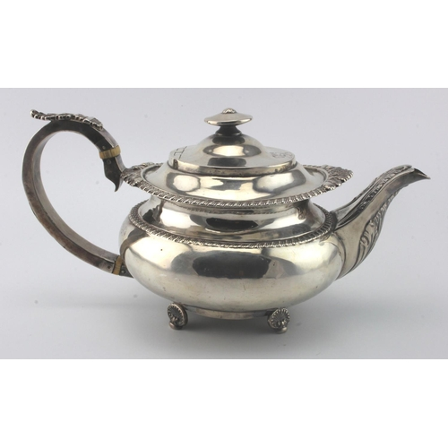 755 - George III Teapot, Hallmarked London 1817 by George Hunter II. Total weight approx 26oz...