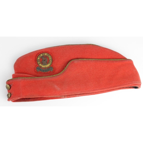 1 - 15th / 19th Hussars Officers dress sidecap, a little service wear overall....