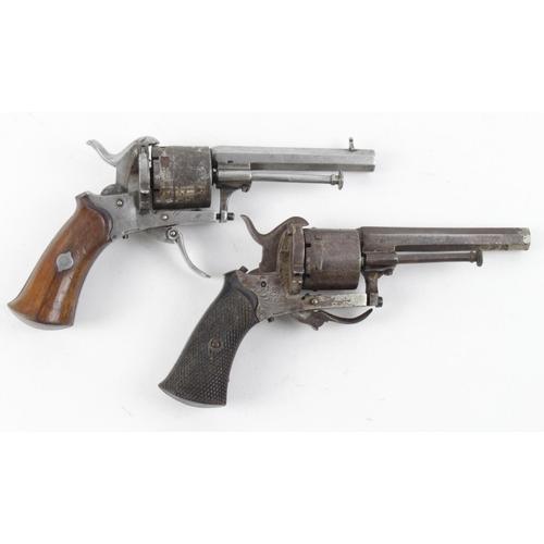1505 - 19th Century Belgium Pin Fire Pocket Revolvers  (2)...