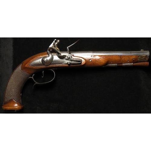 1525 - Flintlock Pistol by Barbar of London c1740, 8