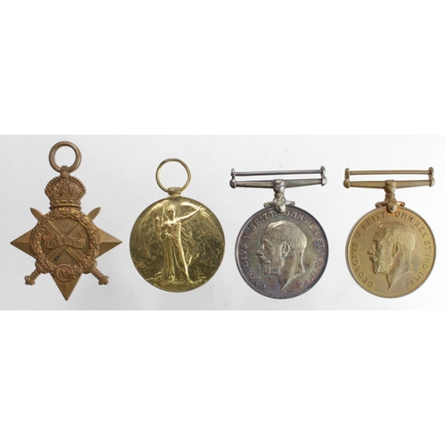 22 - 1915 Star Trio named 1512 L.Cpl W Scott Lothian & Boarder Horse. Commissioned 9/5/1918 2nd Res Regt ...