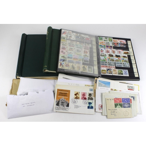 2384 - GB - 2x Windsor Albums, stockbook, booklets and small qty of FDC's. Main value in one Windsor Album ...
