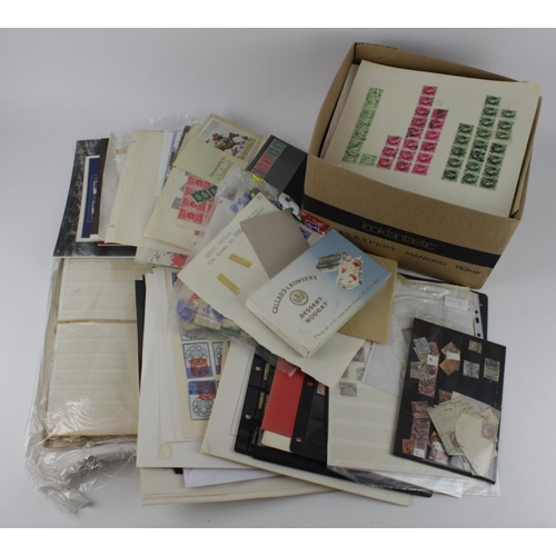 2425 - GB carton with range from QV to QE on leaves, stockcards, loose etc....