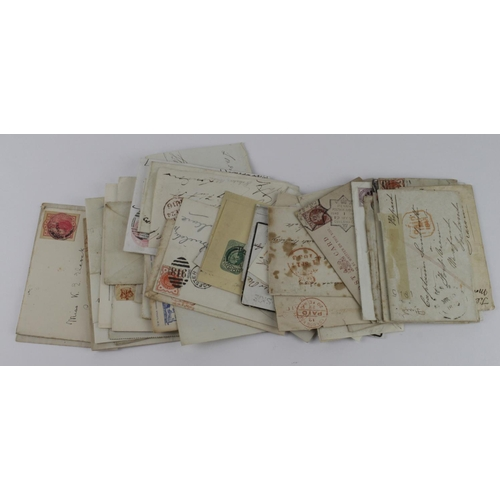 2429 - GB postal history 1771 - c1900, range of stampless mail inc 1771 entire from Longniddry Scotland wit...