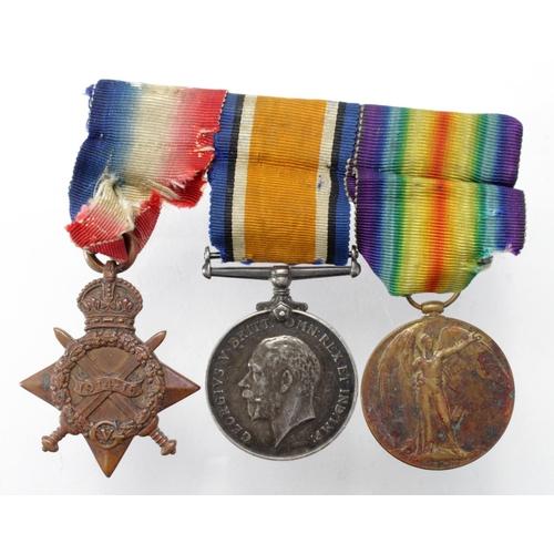 26 - 1915 Star Trio to 18036 Pte J W Andrews W.York Regt.  Lived Hunslet, Leeds.   (3)...