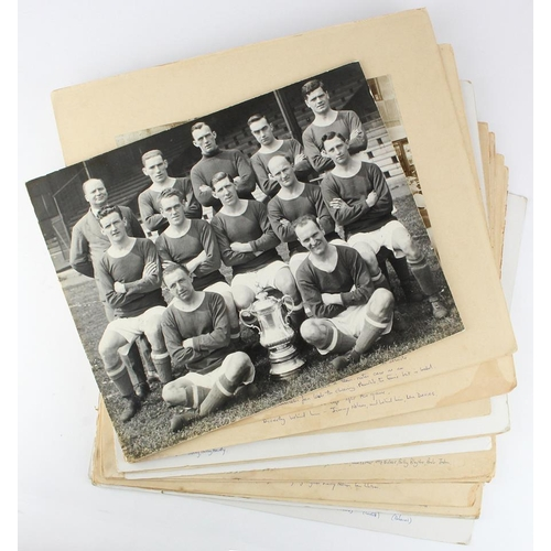 845 - Cardiff City FC - 1927 FA Cup Final interesting black & white collection of press photos mounted on ...