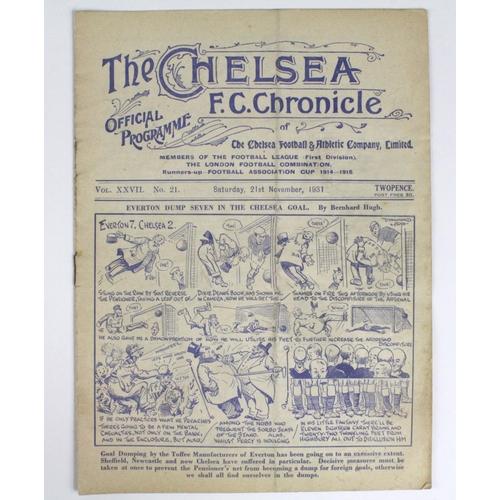 877 - Chelsea v Arsenal 21st Nov 1931...