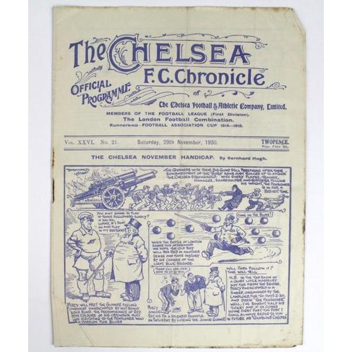 878 - Chelsea v Arsenal 29th Nov 1930...