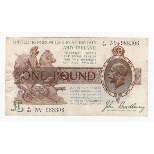 1 Pound 26 2 Banknotes Issue ND 1914 George V 2x 10 Shillings